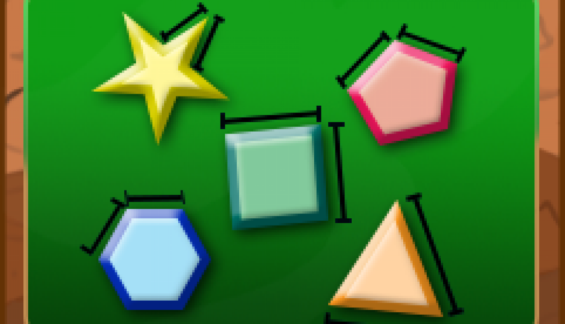 Different colored polygons