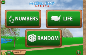 Numbers Life and Random choices in Making Camp Lakota game