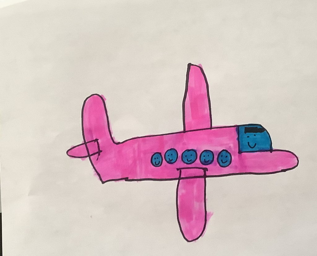 Plane with smiling people