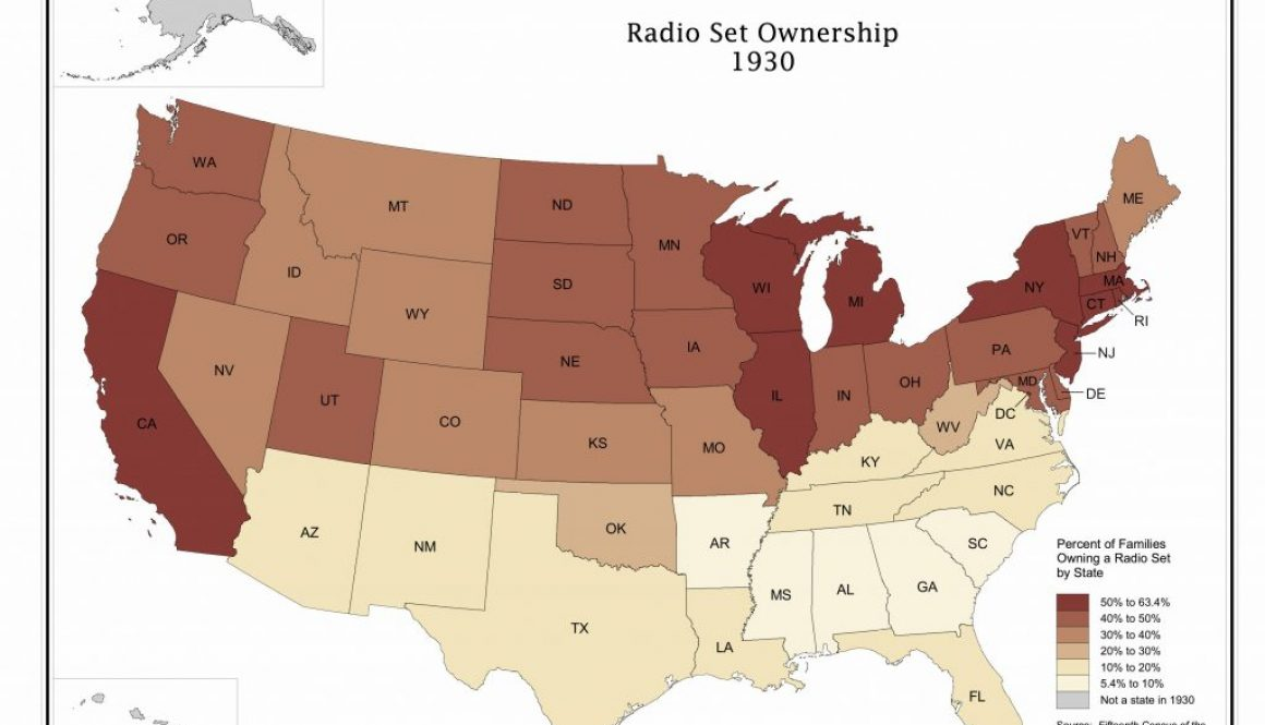 Map of radio ownership in 1930